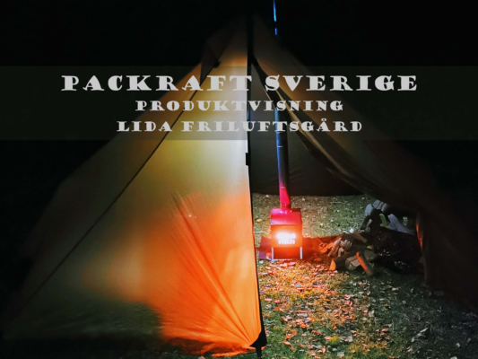 Produktvisning Packraft Sverige Lida Friluftsgård